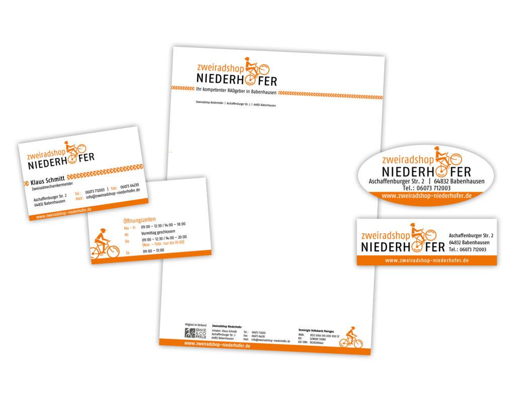 Zweiradshop Niederhofer Babenhausen – Neugestaltung des Corporate Designs